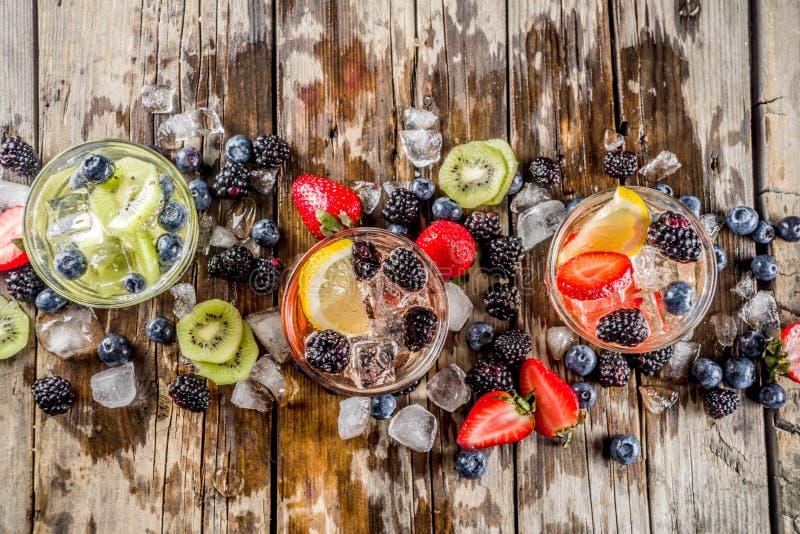 Lemonad ingett vatten med nya b?r fotografering för bildbyråer