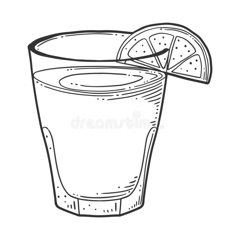 Lemonade cup with lemon slice. Vector concept in doodle and sketch style. Hand drawn illustration for printing on T-shirts, postcards. Icon and logo idea vector illustration