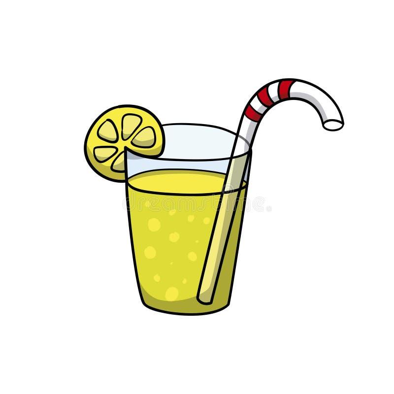 lemonade Drinksymbol Illustration för klottertecknad filmvektor stock illustrationer