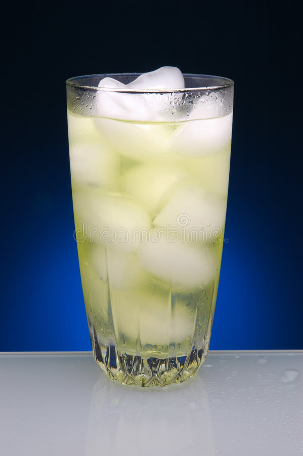 Lemonade Glass with Ice royalty free stock photography
