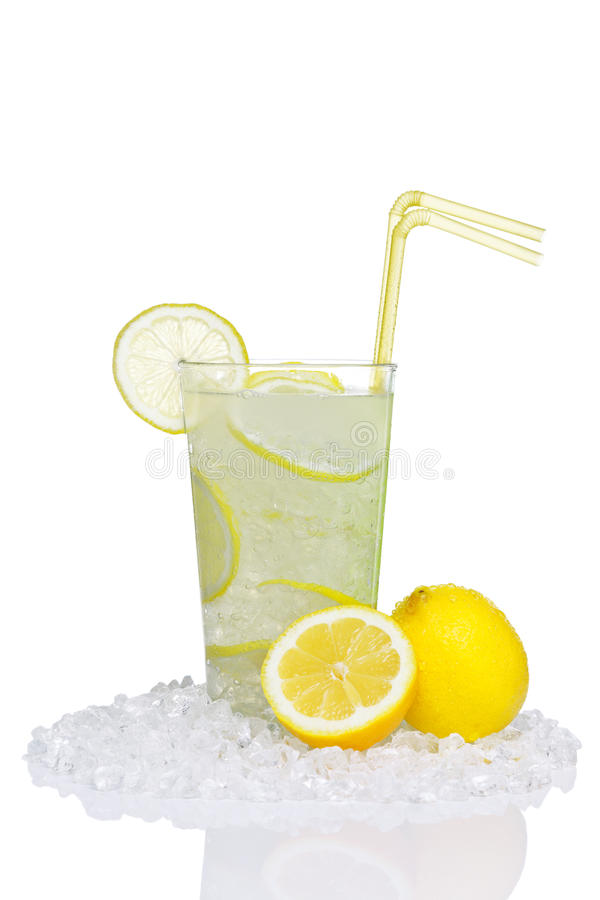 Lemonade In Glass Isolated Royalty Free Stock Image