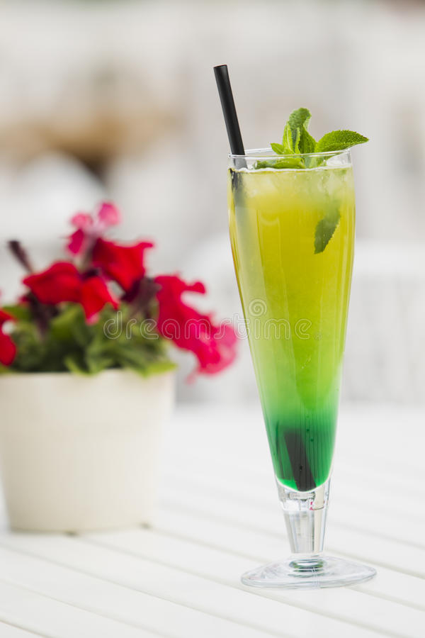 Lemonade with mint and ice. stock photography
