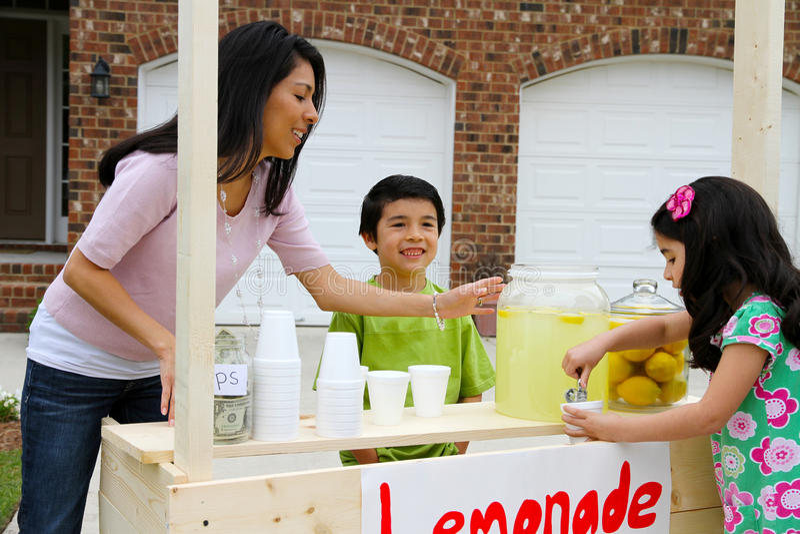 Download Lemonade Stand stock image. Image of earn, kids, sell - 24237161