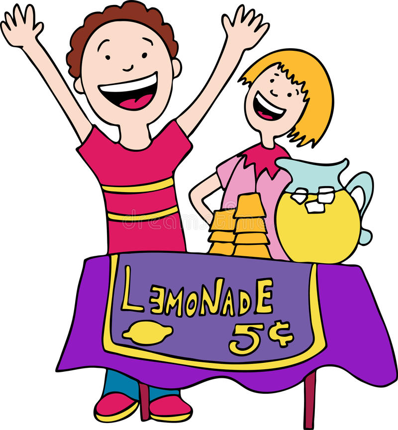 Lemonade Stand royalty free illustration