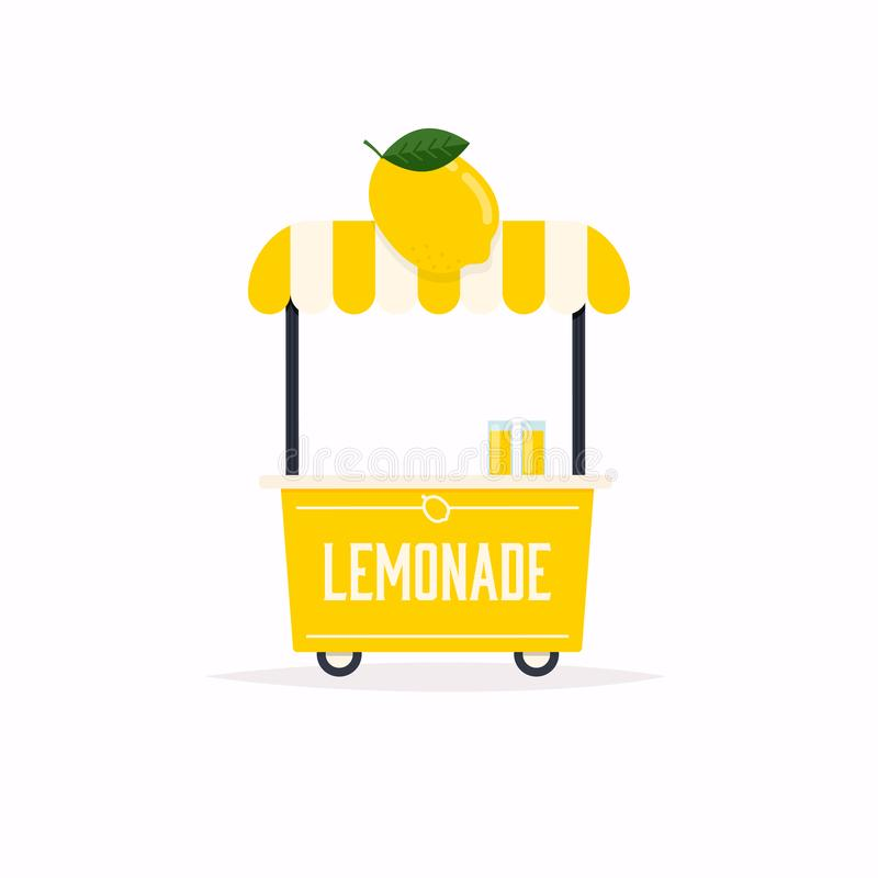 Lemonade stand cart. Street food cart. Vector Illustration vector illustration