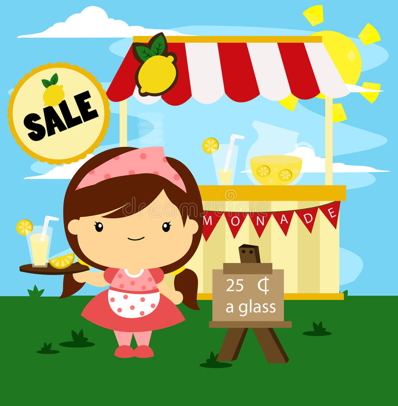 Lemonade Stand vector illustration