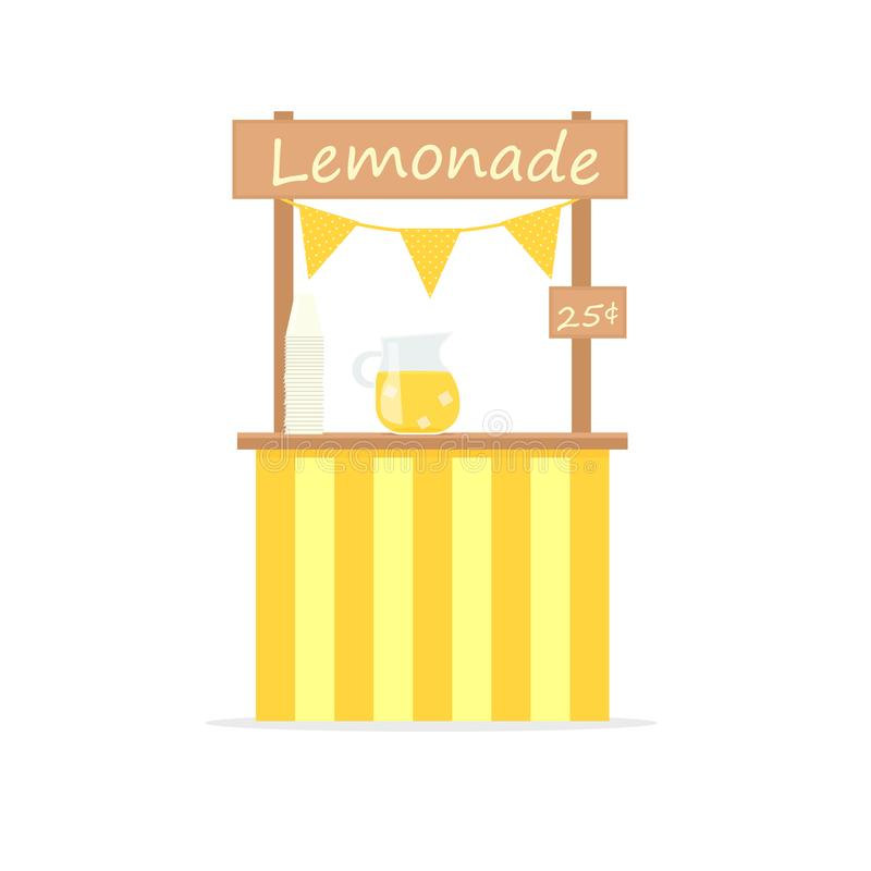 Lemonade vector stand royalty free illustration