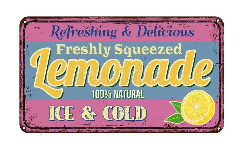 Lemonade vintage rusty metal sign royalty free illustration