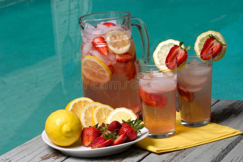 lemonadepink royaltyfri bild