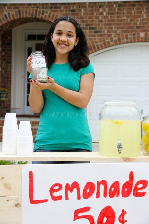 lemonadestand royaltyfria bilder