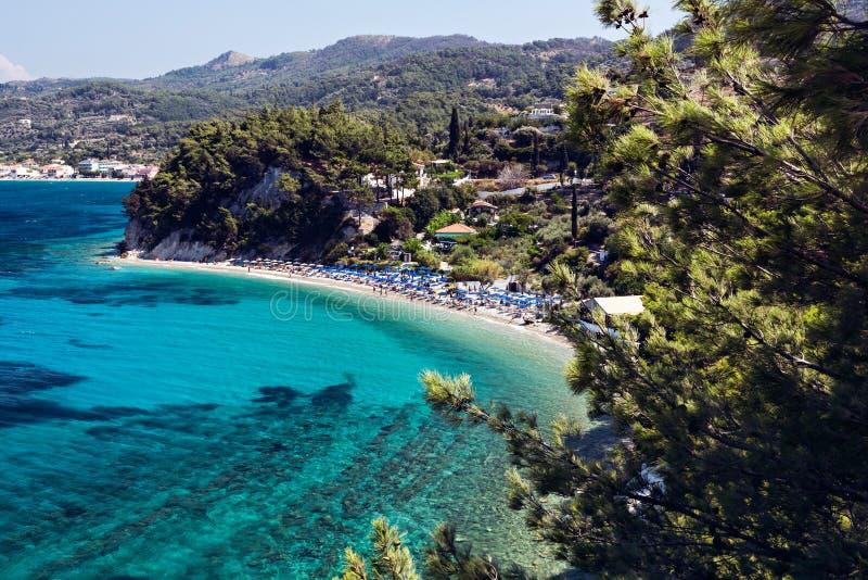 Lemonakia-Strand, Samos stockbilder