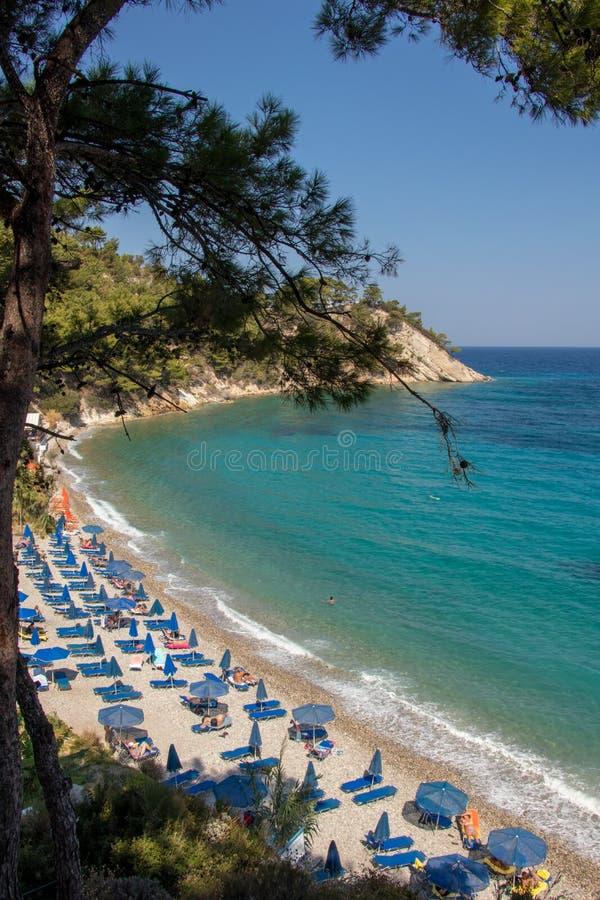 Lemonakia-Strand in Samos-Insel lizenzfreies stockbild