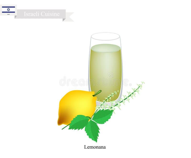 Lemonana ou en jus de citron en bon état congelé israélien illustration de vecteur