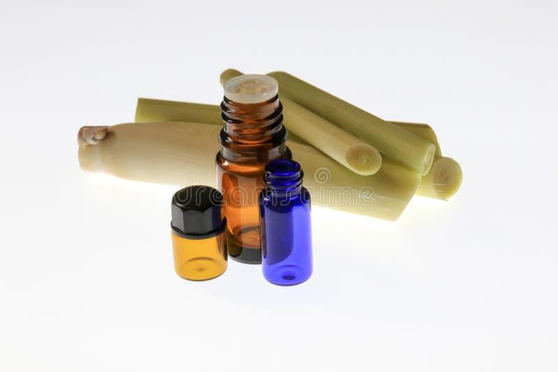 Lemongrass ουσιαστικό πετρέλαιο στοκ εικόνα με δικαίωμα ελεύθερης χρήσης