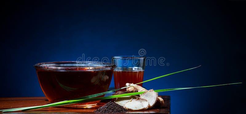 Lemongrass & imbiru herbata zdjęcia stock