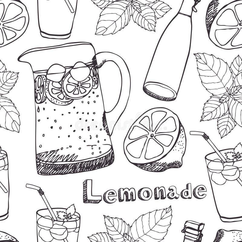 Lemoniada bezszwowy wzór royalty ilustracja