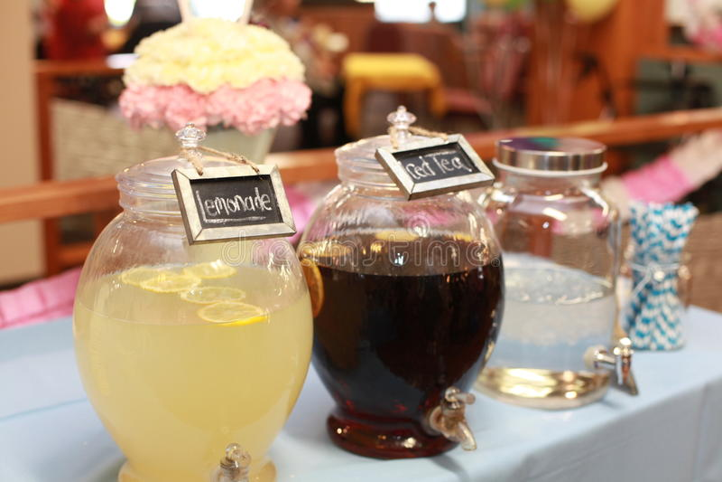 Lemoniada i Lodowa herbata fotografia royalty free