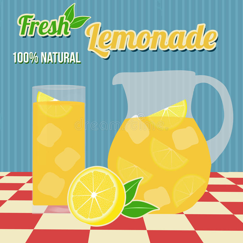 Lemoniada plakat royalty ilustracja