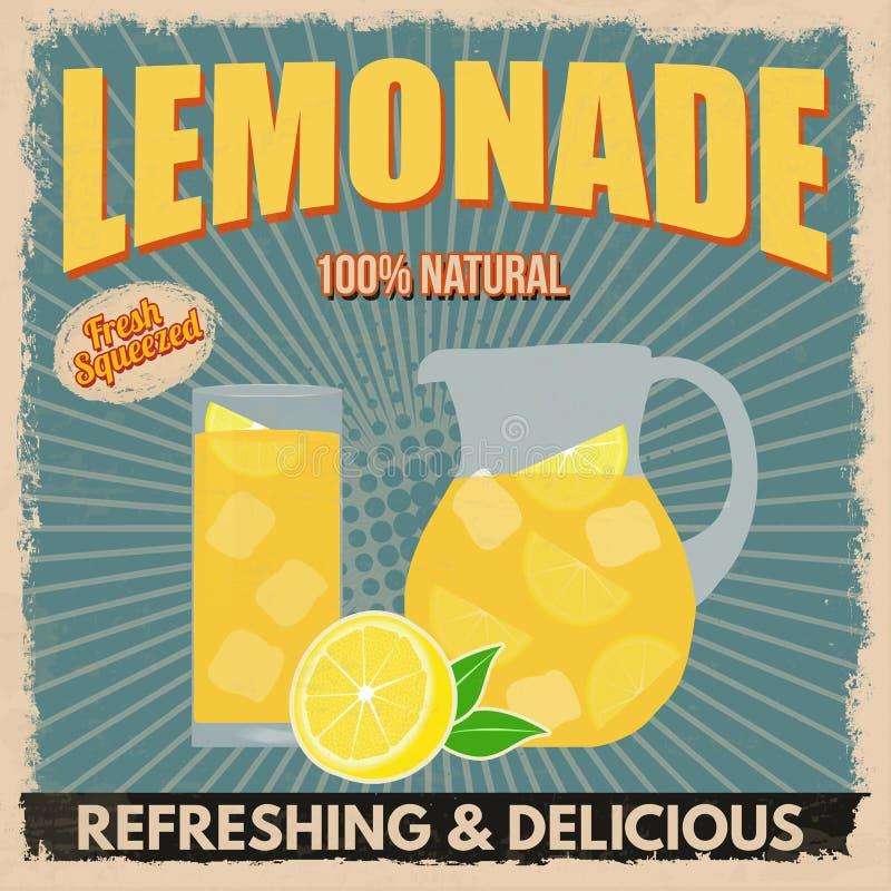 Lemoniada retro plakat royalty ilustracja