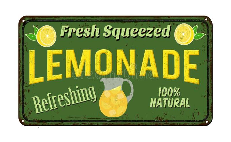 Lemoniada rocznika metalu ośniedziały znak royalty ilustracja