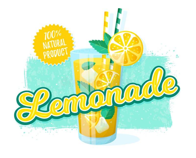 Lemoniada - wektorowa ilustracja banner retro royalty ilustracja
