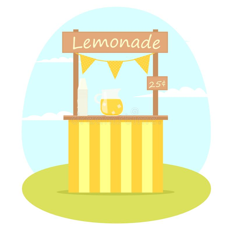 Lemoniada wektoru stojak ilustracja wektor