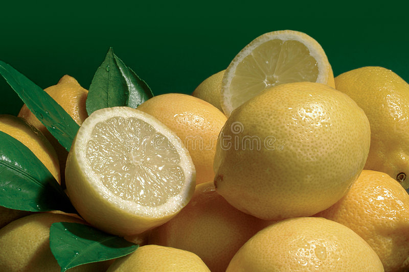 Download Lemons stock image. Image of citrus, background, leaf, acid - 117475