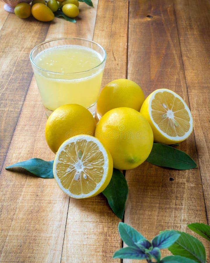 Free Lemons And Lemonade On A Table Stock Image - 164761331