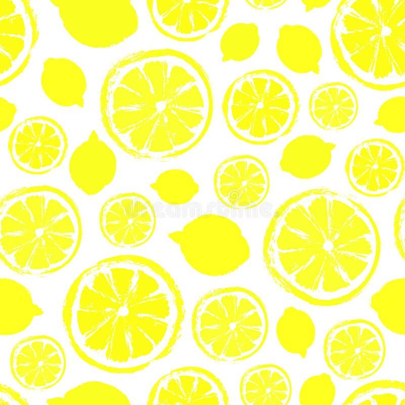 Lemons Background Painted Pattern Stock Vector Illustration Of