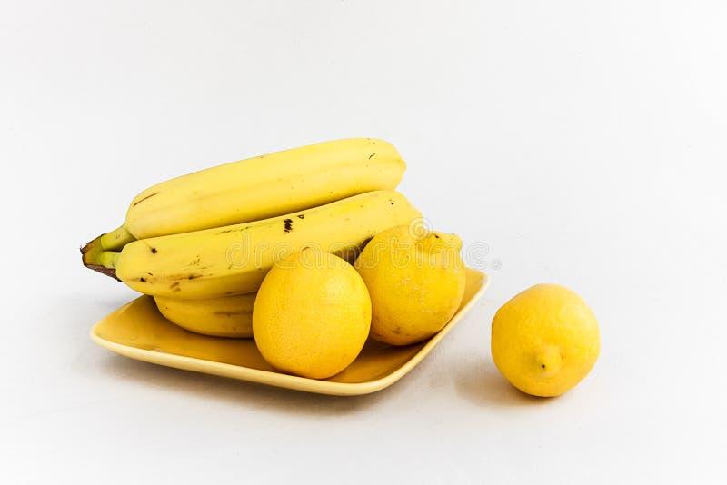 Download Lemons and bananas stock photo. Image of lemons, healthy - 39515620