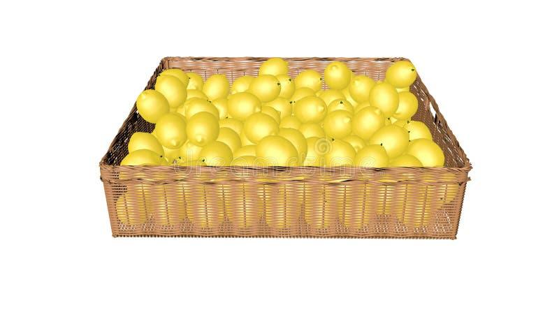 Lemons, in the basket stock photo