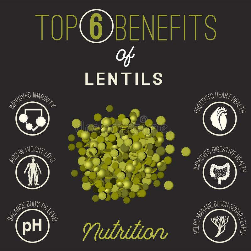 Lemons beans benefits royalty free illustration