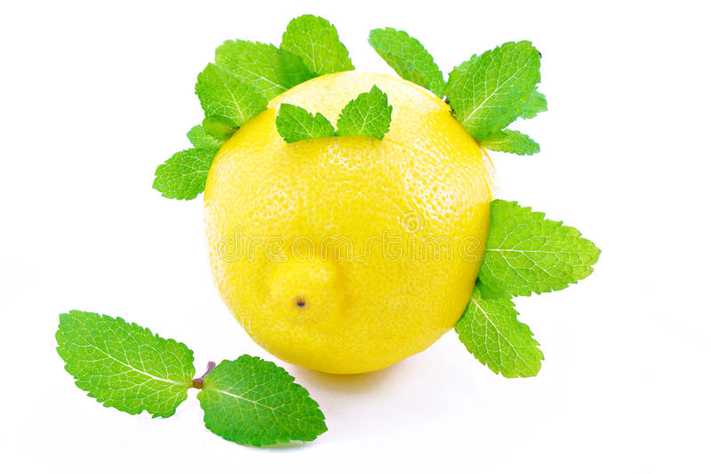 Download Lemons and mint . stock image. Image of freshness, half - 26816509