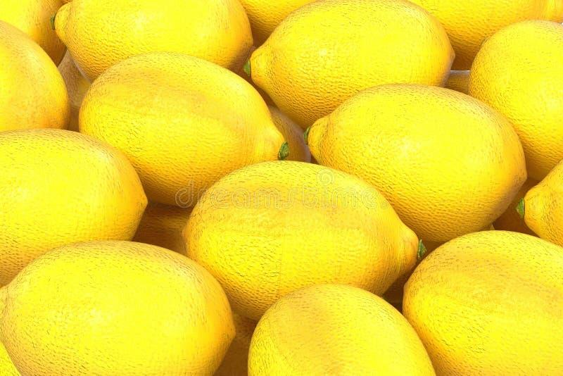 Lemons. Realistic 3d render of lemons vector illustration