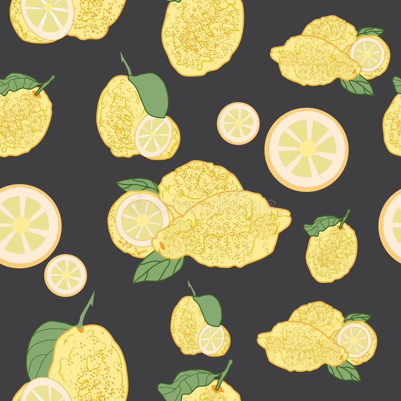 Lemons seameless pattern royalty free stock photography