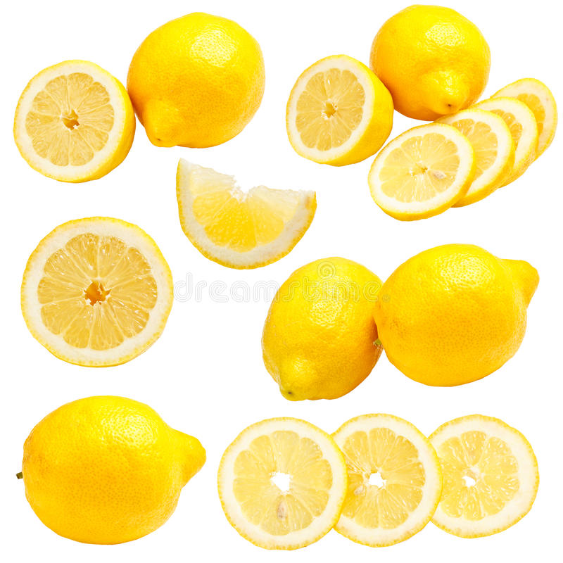 Download Lemons set stock image. Image of isolated, freshness - 25352567