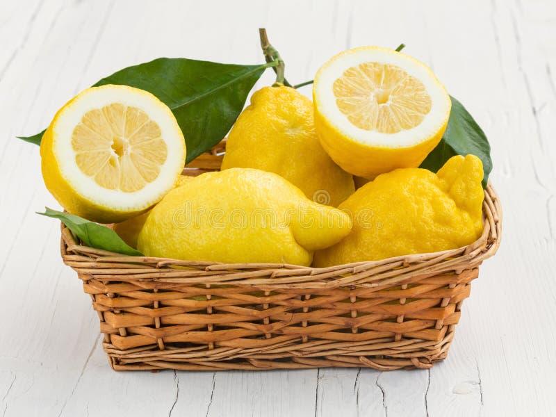 Lemons from Sorrento. Amalfi coast royalty free stock photo