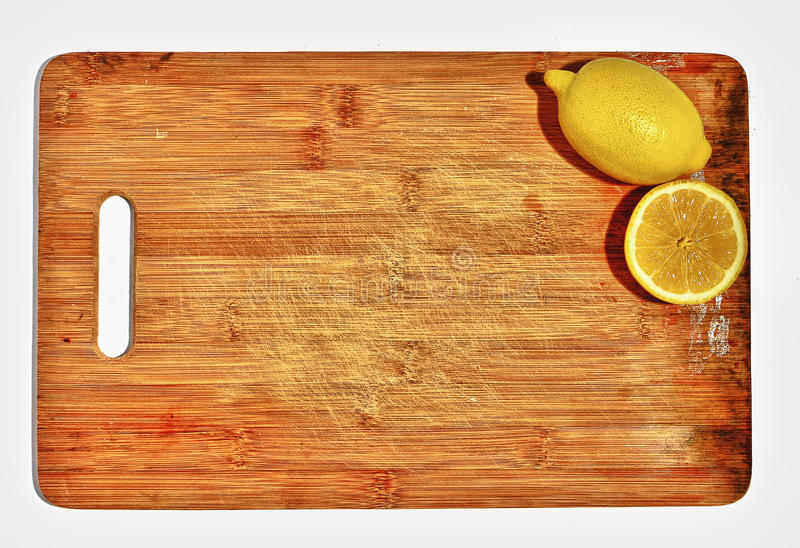 Download Lemons On Wooden Cutting Board Stock Image - Image: 21441393