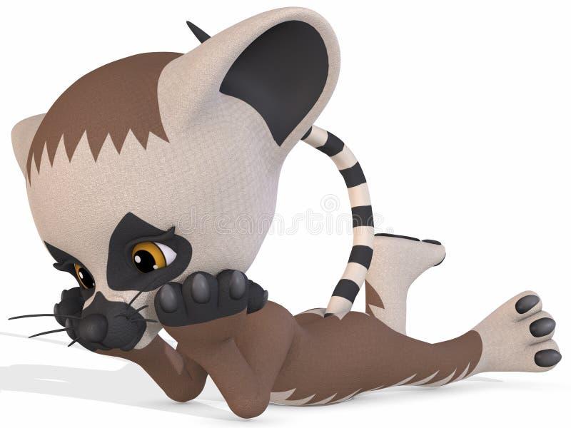 Lemur mignon - chiffre de Toon illustration de vecteur