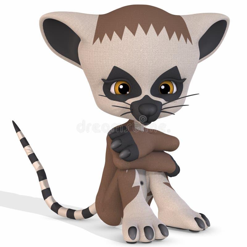 Lemur mignon - chiffre de Toon illustration libre de droits