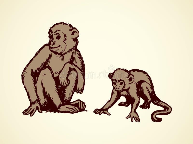 Lemur również zwrócić corel ilustracji wektora royalty ilustracja