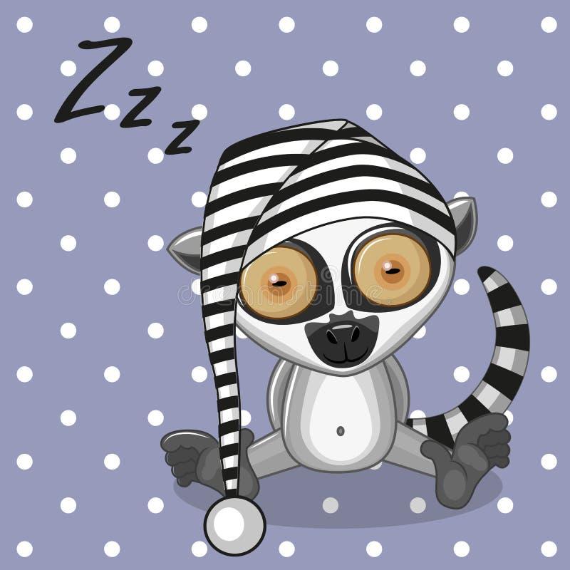 Lemure di sonno illustrazione di stock