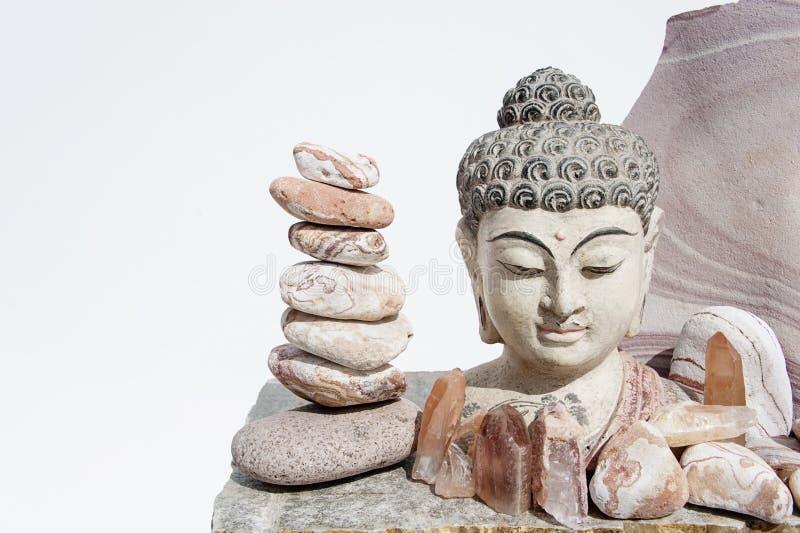 Lemurian Crystal Buddha Balance stock image