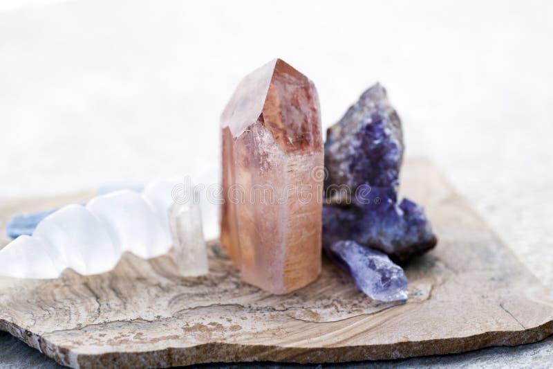 Lemurian-Kristall lizenzfreies stockfoto