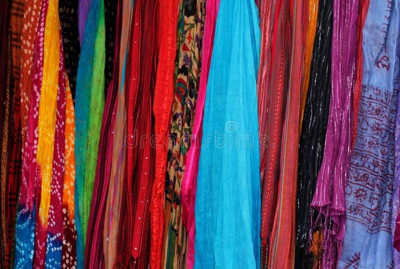 Lenço colorido fotografia de stock