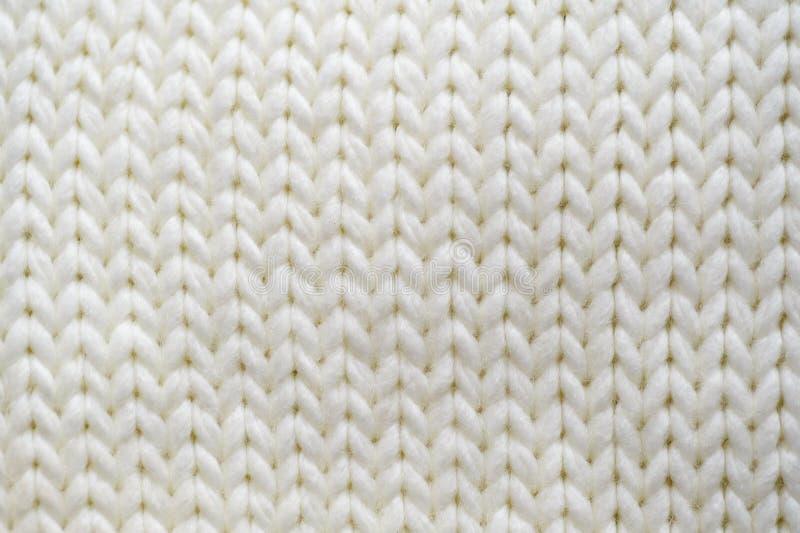 Lenço feito malha branco da textura foto de stock