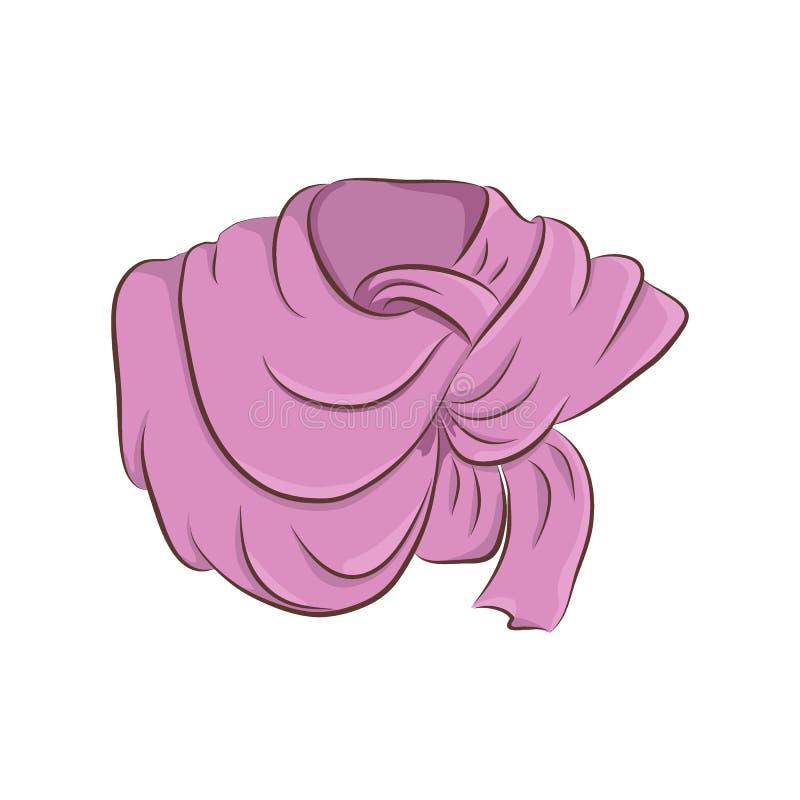 Lenço ou xaile realístico Acessórios de forma das mulheres ilustração stock