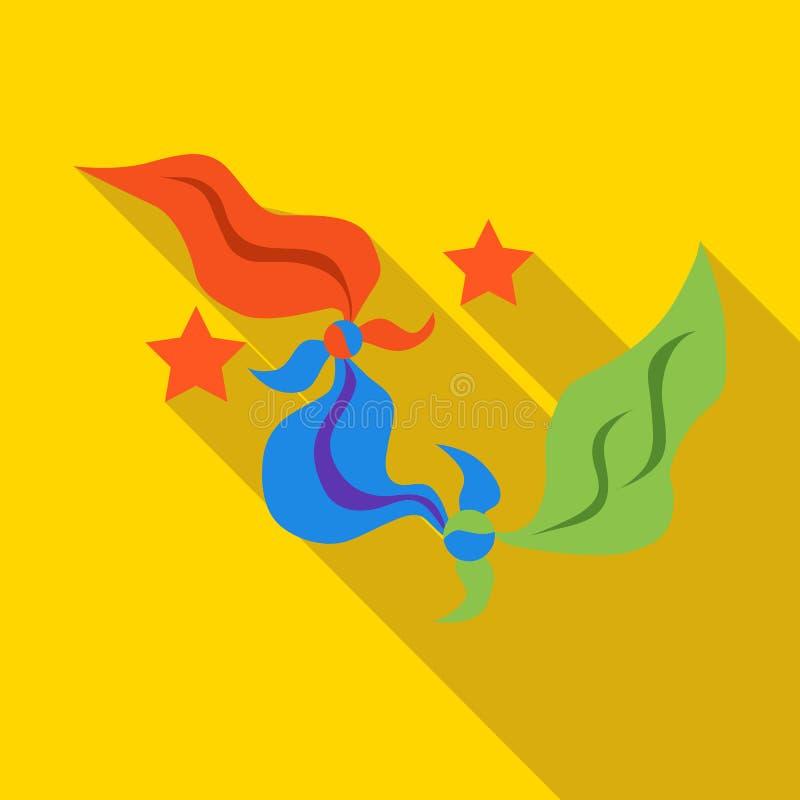 Lenços coloridos do ícone do mágico ilustração do vetor