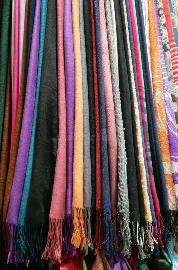 Lenços da cor fotografia de stock