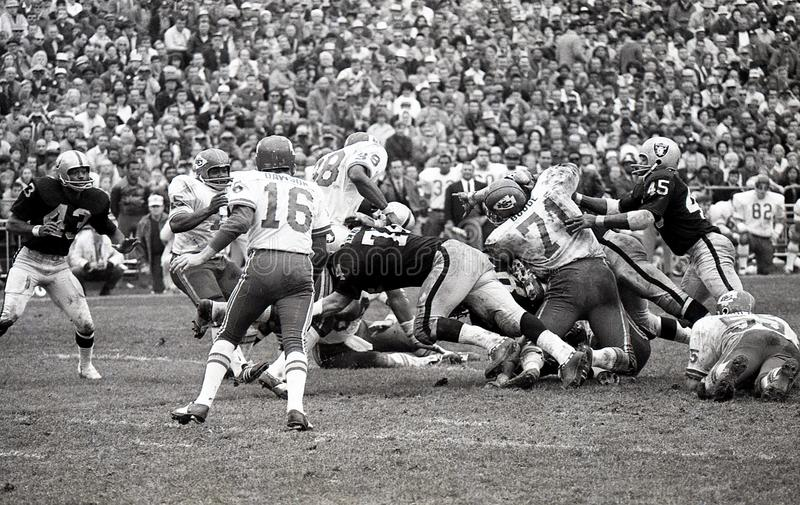 Len Dawson #16 der Kansas City Chiefs stockbild